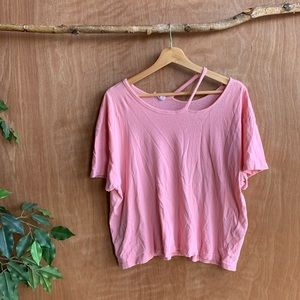 Frame pink cutout cotton shirt
